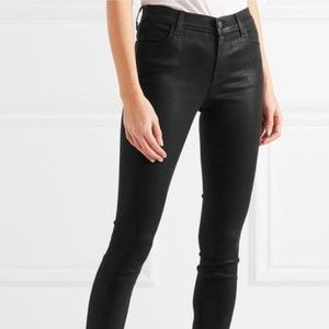 Black Coated Denim - J. Brand Jeans